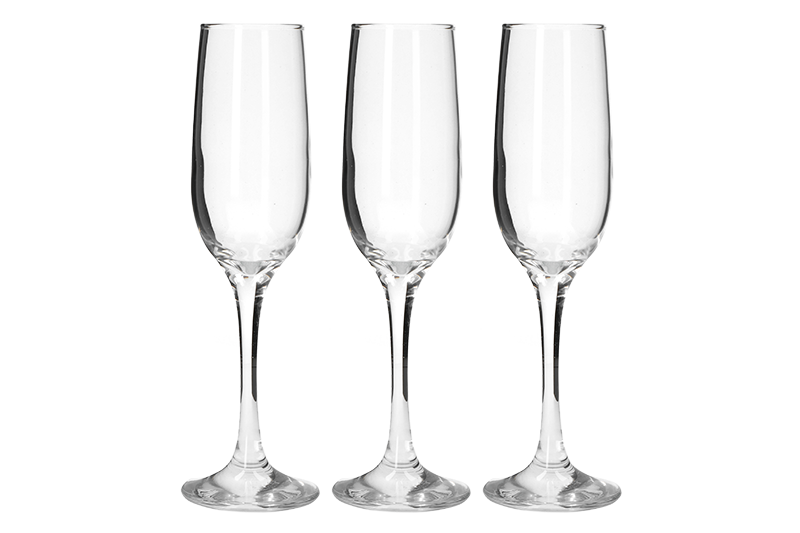SET 3 CALICI CHAMPAGNE