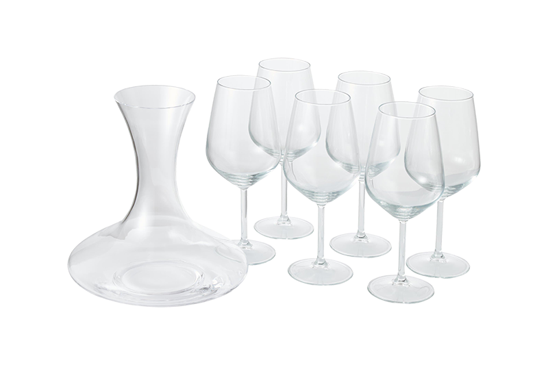 SET 6 CALICI CON DECANTER